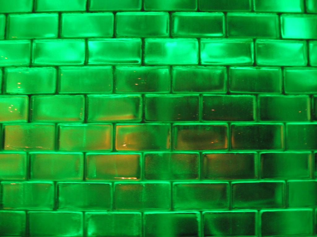 shimmery green bricks