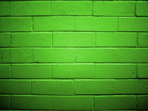 smooth flat green bricks basement wall