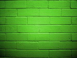 smooth flat green bricks basement wall