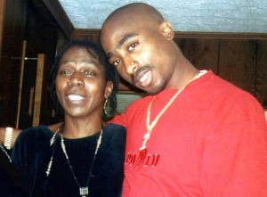 TUPAC SHAKURS WITH HIS MOTHER AFENI SHAKUR PIC: WENN +44(0)171 607 2757