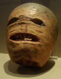 A carved turnip lantern