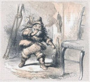 A 1862 sketch of St. Nick
