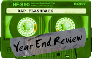 green cassette tape rap flashback year end review