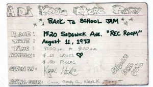 Back To School Jam - Kool Herc