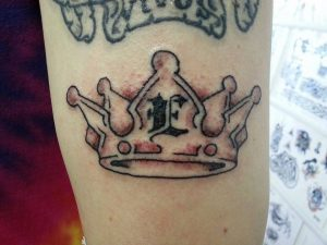 New crown tattoo, part of 'Prof is Getting Married'