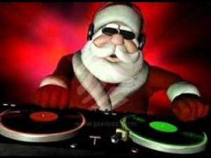 DJ Santa spinning some Christmas Raps