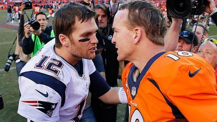 Brady and Manning at the end of the Patriots season