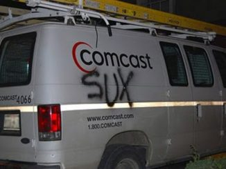 Comcast Sucks truck