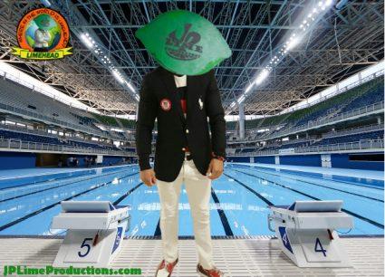 Limehead in Rio, at Aquatics Center