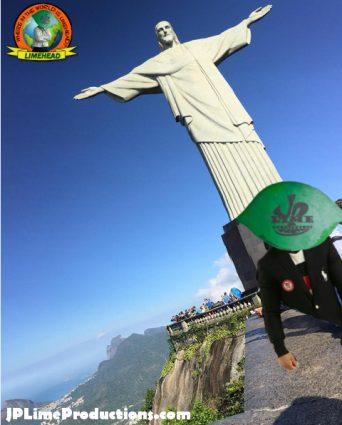 Limehead in Rio, at Cristo Redentor