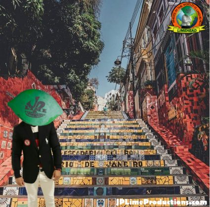 Limehead in Rio, escadaria Selaron