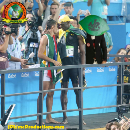 Limehead in Rio, behind Bolt