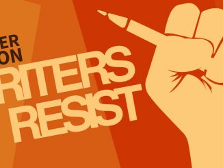 Writers Resist banner